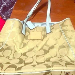 Coach handbag and matching wallet